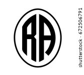 black monogram curved oval... | Shutterstock .eps vector #672506791