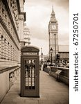 London Phone Box And Big Ben ...