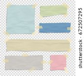 set of paper color ripped... | Shutterstock .eps vector #672507295
