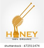 honey bee logo | Shutterstock .eps vector #672511474