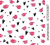 Seamless Pattern With Lipstick...