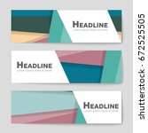 abstract vector layout... | Shutterstock .eps vector #672525505