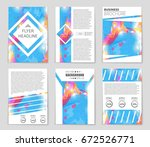 abstract vector layout... | Shutterstock .eps vector #672526771