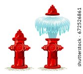 Hydrant breakdown on a white background