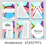 abstract vector layout... | Shutterstock .eps vector #672527971