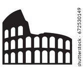 coliseum icon | Shutterstock .eps vector #672530149