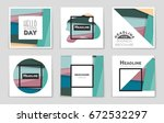 abstract vector layout... | Shutterstock .eps vector #672532297