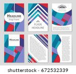abstract vector layout... | Shutterstock .eps vector #672532339