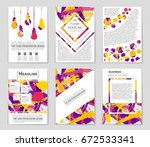 abstract vector layout... | Shutterstock .eps vector #672533341