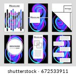 abstract vector layout... | Shutterstock .eps vector #672533911