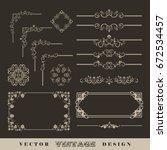 abstract frames  borders ... | Shutterstock .eps vector #672534457