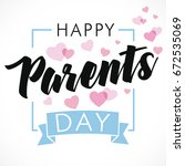 happy parents day greeting card.... | Shutterstock .eps vector #672535069
