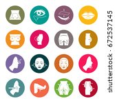 plastic surgery icon set | Shutterstock .eps vector #672537145