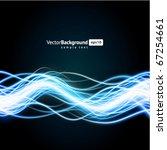 abstract burn waveform vector... | Shutterstock .eps vector #67254661