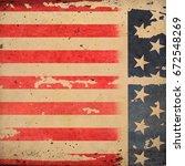 grunge usa flag | Shutterstock . vector #672548269