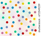 colored circles on a white... | Shutterstock . vector #672549259