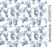 seamless pattern with hand...   Shutterstock .eps vector #672559771