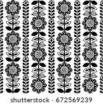 finnish inspired seamless folk... | Shutterstock .eps vector #672569239