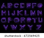 shine modern alphabet | Shutterstock .eps vector #672569425