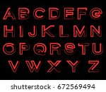 red alphabet | Shutterstock .eps vector #672569494