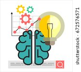 concept of creative design and... | Shutterstock . vector #672576571