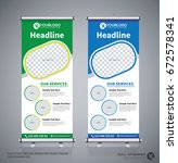 roll up brochure flyer banner...   Shutterstock .eps vector #672578341