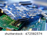 old electronics devices for... | Shutterstock . vector #672582574