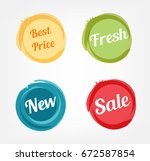 best price fresh new and sale... | Shutterstock .eps vector #672587854