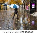 nottingham  england   november...   Shutterstock . vector #672590161