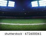 soccer stadium | Shutterstock . vector #672600061