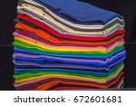 tee shirts made from synthetic... | Shutterstock . vector #672601681