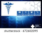 2d illustration health care and ... | Shutterstock . vector #672602095