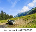 Landscape View Of Swiss Alps...