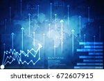 2d rendering stock market... | Shutterstock . vector #672607915
