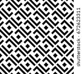 line and rectangular pattern... | Shutterstock .eps vector #672623311