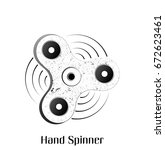 grunge hand spinner. trendy... | Shutterstock . vector #672623461