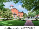 frederick  usa   may 24  2017 ... | Shutterstock . vector #672629077