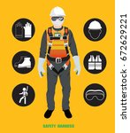 safety harness   construction... | Shutterstock .eps vector #672629221