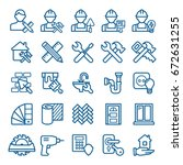 set of home repair icons.... | Shutterstock .eps vector #672631255