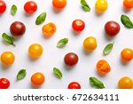fresh cherry tomato pattern.