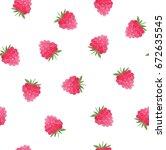 watercolor raspberry design ...   Shutterstock . vector #672635545