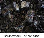 ferro manganese crushed into... | Shutterstock . vector #672645355
