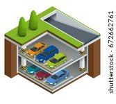 vector isometric underground... | Shutterstock .eps vector #672662761
