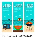 travel and vacation vector... | Shutterstock .eps vector #672664459