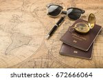 planning travel concept ... | Shutterstock . vector #672666064