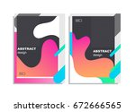 poster of flyer design template ...   Shutterstock .eps vector #672666565