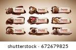 set of vector illustrations ... | Shutterstock .eps vector #672679825