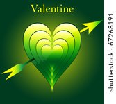 valentine love hearts in green... | Shutterstock .eps vector #67268191