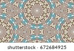 vector seamless pattern with... | Shutterstock .eps vector #672684925