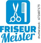 hairdresser master icon with... | Shutterstock .eps vector #672687175